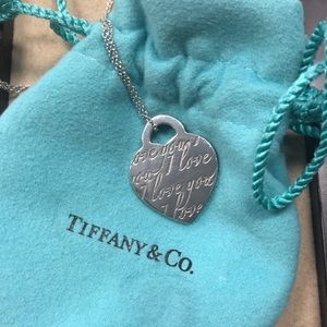 """Authentic Tiffany & Co Necklace """"I love you"""""""
